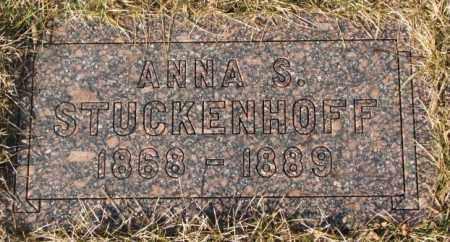 STUCKENHOFF, ANNA S. - Cedar County, Nebraska | ANNA S. STUCKENHOFF - Nebraska Gravestone Photos