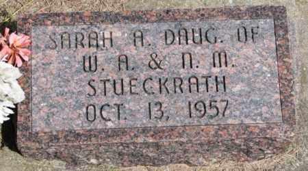 STUECKRATH, SARAH A. - Cedar County, Nebraska | SARAH A. STUECKRATH - Nebraska Gravestone Photos