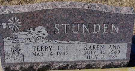 STUNDEN, TERRY LEE - Cedar County, Nebraska | TERRY LEE STUNDEN - Nebraska Gravestone Photos