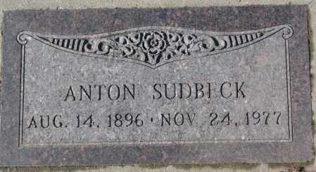 SUDBECK, ANTON - Cedar County, Nebraska   ANTON SUDBECK - Nebraska Gravestone Photos