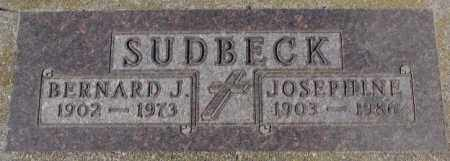 SUDBECK, BERNARD J. - Cedar County, Nebraska   BERNARD J. SUDBECK - Nebraska Gravestone Photos