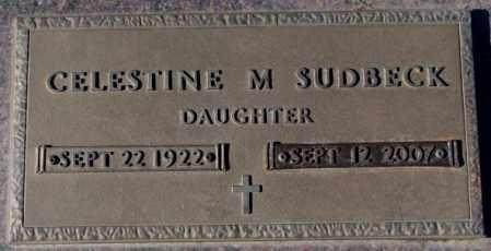 SUDBECK, CELESTINE M. - Cedar County, Nebraska   CELESTINE M. SUDBECK - Nebraska Gravestone Photos