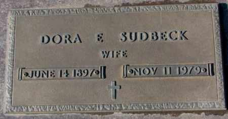 SUDBECK, DORA E. - Cedar County, Nebraska | DORA E. SUDBECK - Nebraska Gravestone Photos