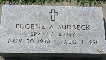 SUDBECK, EUGENE A. - Cedar County, Nebraska | EUGENE A. SUDBECK - Nebraska Gravestone Photos