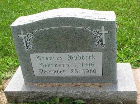 SUDBECK, FRANCES - Cedar County, Nebraska | FRANCES SUDBECK - Nebraska Gravestone Photos