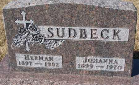 SUDBECK, JOHANNA - Cedar County, Nebraska | JOHANNA SUDBECK - Nebraska Gravestone Photos