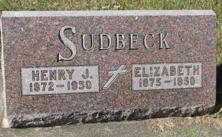 SUDBECK, ELIZABETH - Cedar County, Nebraska | ELIZABETH SUDBECK - Nebraska Gravestone Photos