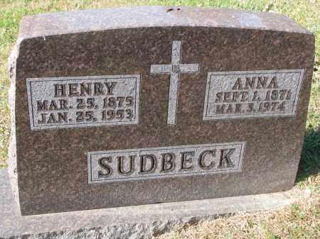 SUDBECK, ANNA - Cedar County, Nebraska | ANNA SUDBECK - Nebraska Gravestone Photos