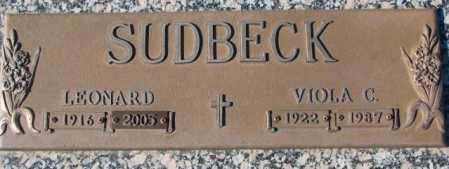 SUDBECK, LEONARD - Cedar County, Nebraska | LEONARD SUDBECK - Nebraska Gravestone Photos