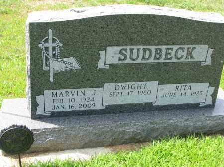 SUDBECK, MARVIN J. - Cedar County, Nebraska | MARVIN J. SUDBECK - Nebraska Gravestone Photos