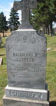 SUDBECK, MAGDALENA M. - Cedar County, Nebraska | MAGDALENA M. SUDBECK - Nebraska Gravestone Photos