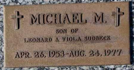 SUDBECK, MICHAEL M. - Cedar County, Nebraska | MICHAEL M. SUDBECK - Nebraska Gravestone Photos