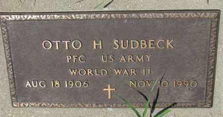 SUDBECK, OTTO H. (WW II) - Cedar County, Nebraska   OTTO H. (WW II) SUDBECK - Nebraska Gravestone Photos