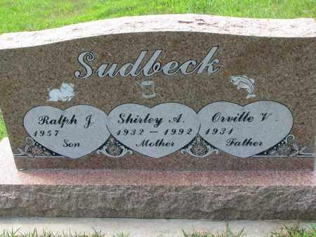 SUDBECK, RALPH J. - Cedar County, Nebraska | RALPH J. SUDBECK - Nebraska Gravestone Photos