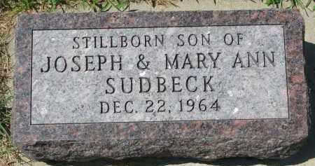 SUDBECK, SON 1964 - Cedar County, Nebraska   SON 1964 SUDBECK - Nebraska Gravestone Photos