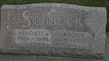 SUDBECK, VERONICA - Cedar County, Nebraska | VERONICA SUDBECK - Nebraska Gravestone Photos