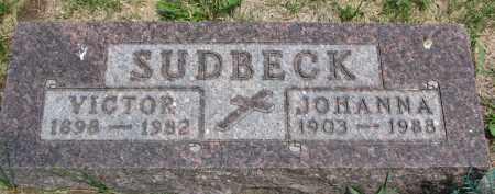 SUDBECK, VICTOR - Cedar County, Nebraska   VICTOR SUDBECK - Nebraska Gravestone Photos