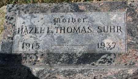 THOMAS SUHR, HAZEL L. - Cedar County, Nebraska | HAZEL L. THOMAS SUHR - Nebraska Gravestone Photos