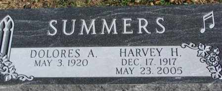 SUMMERS, HARVEY H. - Cedar County, Nebraska | HARVEY H. SUMMERS - Nebraska Gravestone Photos