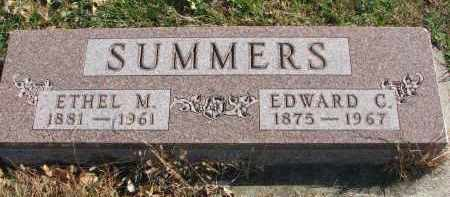 SUMMERS, EDWARD C. - Cedar County, Nebraska   EDWARD C. SUMMERS - Nebraska Gravestone Photos