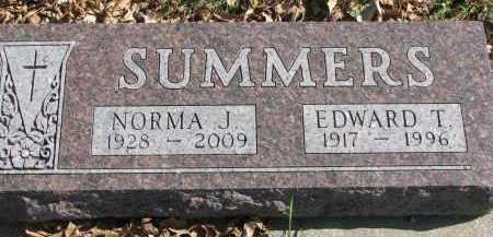SUMMERS, EDWARD T. - Cedar County, Nebraska   EDWARD T. SUMMERS - Nebraska Gravestone Photos