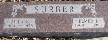SURBER, ELMER L. - Cedar County, Nebraska | ELMER L. SURBER - Nebraska Gravestone Photos