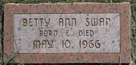 SWAN, BETTY ANN - Cedar County, Nebraska   BETTY ANN SWAN - Nebraska Gravestone Photos