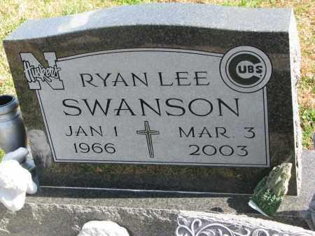 SWANSON, RYAN LEE - Cedar County, Nebraska   RYAN LEE SWANSON - Nebraska Gravestone Photos