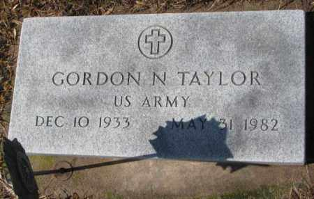 TAYLOR, GORDON N. - Cedar County, Nebraska | GORDON N. TAYLOR - Nebraska Gravestone Photos