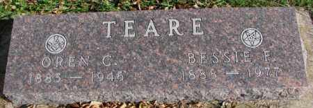 TEARE, BESSIE F. - Cedar County, Nebraska | BESSIE F. TEARE - Nebraska Gravestone Photos