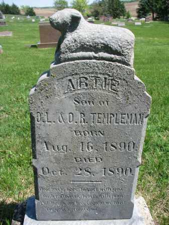 TEMPLEMAN, ARTIE - Cedar County, Nebraska | ARTIE TEMPLEMAN - Nebraska Gravestone Photos