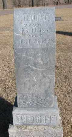 THEDORFF, F. - Cedar County, Nebraska | F. THEDORFF - Nebraska Gravestone Photos