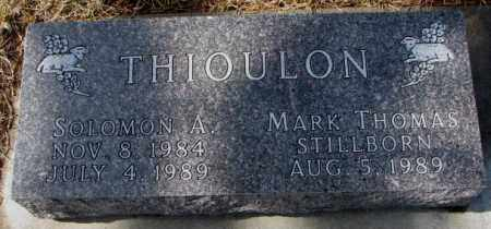 THIOULON, MARK THOMAS - Cedar County, Nebraska | MARK THOMAS THIOULON - Nebraska Gravestone Photos
