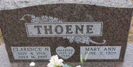 THOENE, CLARENCE N. - Cedar County, Nebraska   CLARENCE N. THOENE - Nebraska Gravestone Photos