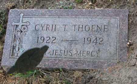 THOENE, CYRIL T. - Cedar County, Nebraska   CYRIL T. THOENE - Nebraska Gravestone Photos