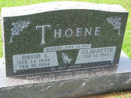 THOENE, DAVID L. - Cedar County, Nebraska | DAVID L. THOENE - Nebraska Gravestone Photos