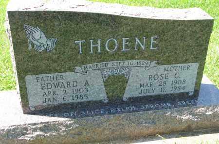THOENE, EDWARD A. - Cedar County, Nebraska   EDWARD A. THOENE - Nebraska Gravestone Photos