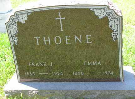 THOENE, FRANK J. - Cedar County, Nebraska | FRANK J. THOENE - Nebraska Gravestone Photos