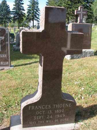 THOENE, FRANCES - Cedar County, Nebraska   FRANCES THOENE - Nebraska Gravestone Photos