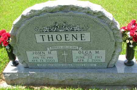 THOENE, JOHN H. - Cedar County, Nebraska   JOHN H. THOENE - Nebraska Gravestone Photos
