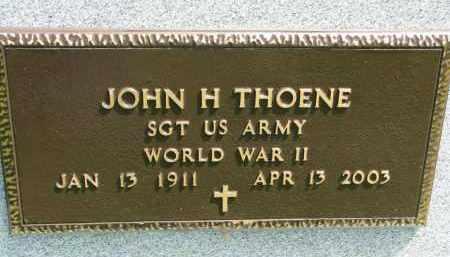 THOENE, JOHN H. (WW II) - Cedar County, Nebraska | JOHN H. (WW II) THOENE - Nebraska Gravestone Photos
