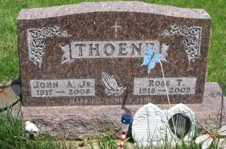 THOENE, JOHN A. JR. - Cedar County, Nebraska | JOHN A. JR. THOENE - Nebraska Gravestone Photos