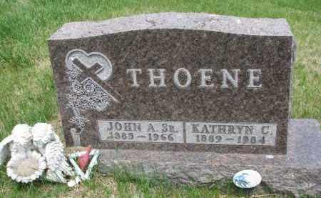 THOENE, JOHN A. SR. - Cedar County, Nebraska | JOHN A. SR. THOENE - Nebraska Gravestone Photos