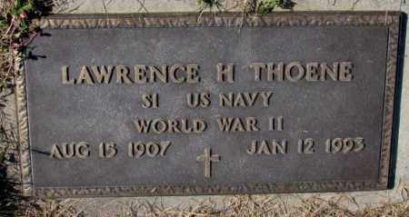 THOENE, LAWRENCE H. (WW II) - Cedar County, Nebraska | LAWRENCE H. (WW II) THOENE - Nebraska Gravestone Photos