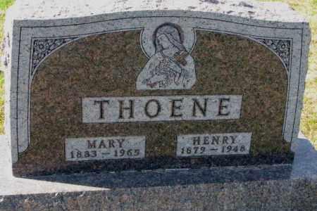 THOENE, HENRY - Cedar County, Nebraska   HENRY THOENE - Nebraska Gravestone Photos
