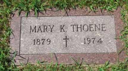 THOENE, MARY K. - Cedar County, Nebraska | MARY K. THOENE - Nebraska Gravestone Photos