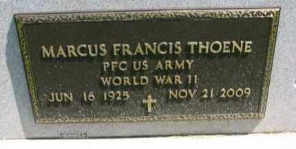 THOENE, MARCUS FRANCIS (WW II) - Cedar County, Nebraska | MARCUS FRANCIS (WW II) THOENE - Nebraska Gravestone Photos