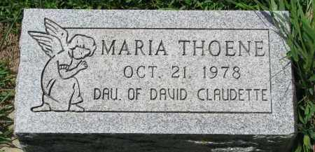 THOENE, MARIA - Cedar County, Nebraska | MARIA THOENE - Nebraska Gravestone Photos