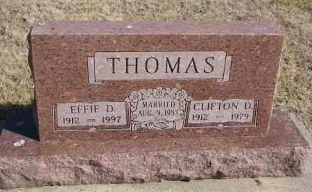 THOMAS, EFFIE D. - Cedar County, Nebraska   EFFIE D. THOMAS - Nebraska Gravestone Photos