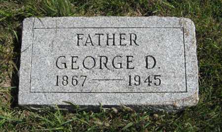 THOMAS, GEORGE D. - Cedar County, Nebraska   GEORGE D. THOMAS - Nebraska Gravestone Photos